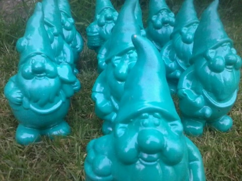 The Kingston Green Party Election Gnomes are ready for action again!